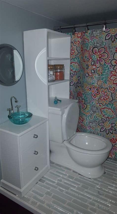 American Girl Dollhouse Diy Bathroom With Toilet And Sink