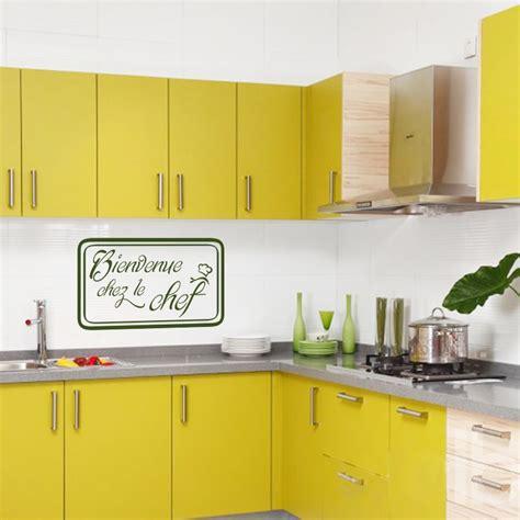 le chef cuisine sticker cuisine bienvenu chez le chef pas cher stickers
