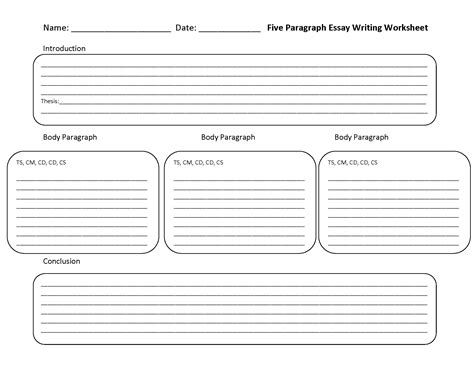 paragraph template 15 best images of essay writing worksheets free creative writing worksheets writing a five