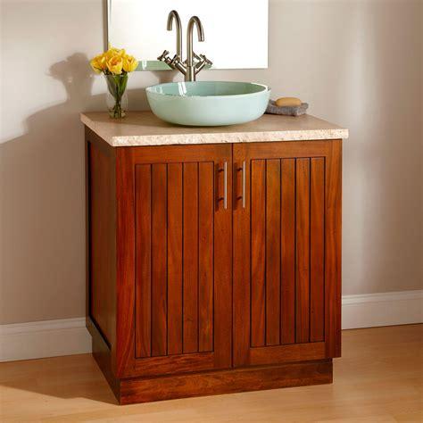 montara mahogany vessel sink vanity