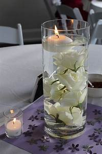 Submerged, Rose, Centerpieces, With, Floating, Candle