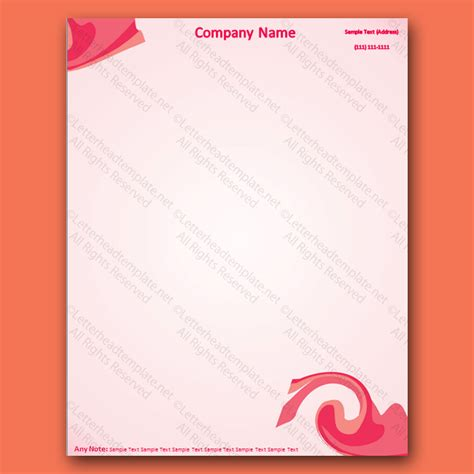 blue theme letterhead template