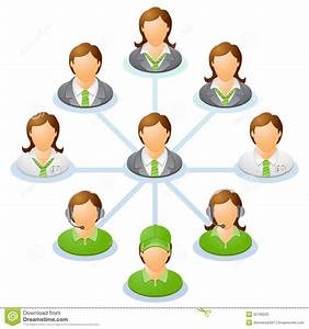Organization Chart Stock Vector  Illustration Of Center