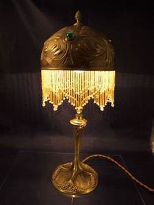 1000 images about lamps vintage beaded victorian on for Antique floor lamp with fringed shade