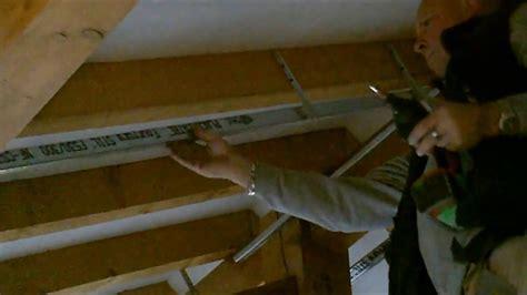 ossature plafond rampant youtube