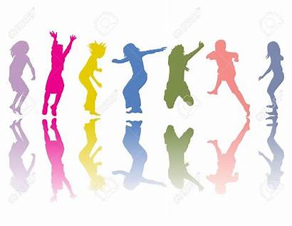 Clipart Shadow Dance Silhouettes Colored Colorful Movement