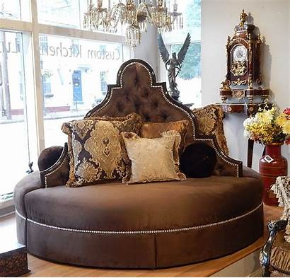 Round Foyer Lobby Sofa Luxury Furniture Seating