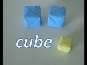 Comment Faire Des Origami : comment faire l 39 origami cube youtube ~ Nature-et-papiers.com Idées de Décoration