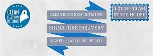 Clean Elections Initiative Signature Delivery | Maine ...