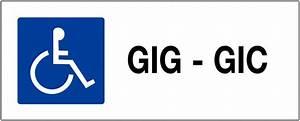 Panneau Stationnement Handicapé : panneau de parking handicap s gig gic seton fr ~ Medecine-chirurgie-esthetiques.com Avis de Voitures