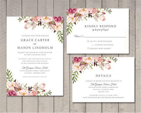 Wedding Invitation Template 71+ Free Printable Word