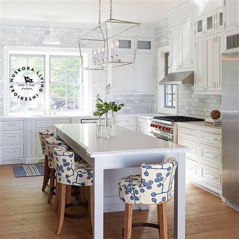calabar kitchen island fresh summer style muskoka living interiors 5087