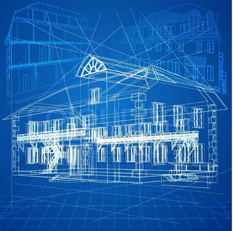 log home floor plans and prices blueprint vector architectural background part