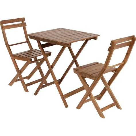 table et chaise de salon salon de jardin acacia bois marron 1 table et 2 chaises leroy merlin