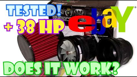ebay electric supercharger test youtube