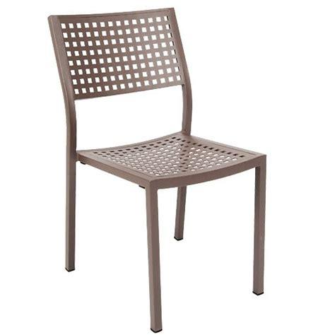 aluminum patio chair in rust color