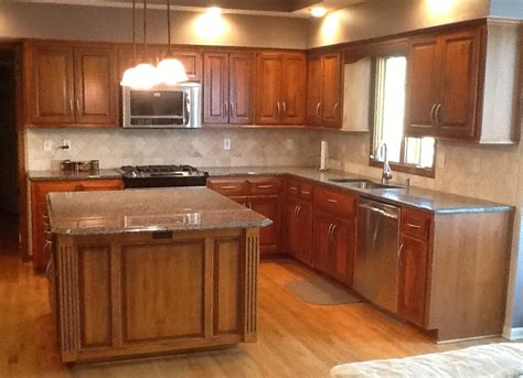 updating oak kitchen cabinets before and after kitchen update kc wood 9816