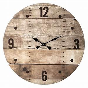Pendule Maison Du Monde : horloge en bois d 82 cm c vennes maisons du monde ~ Teatrodelosmanantiales.com Idées de Décoration