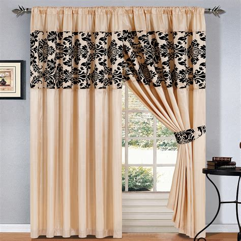 Contemporary Black And Cream Curtain Design For Formal