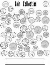 Money Coloring Coin Math Kindergarten Counting Coins Preschool Scribd Learning Teaching Worksheet Grade sketch template