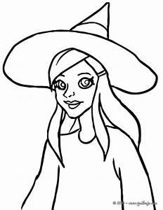 Dessin Citrouille Facile : brujas lindas para pintar en halloween colorear im genes ~ Melissatoandfro.com Idées de Décoration