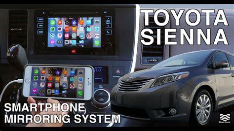 toyota sienna iphone mirroring system