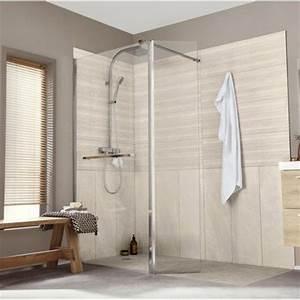 paroi de douche a l39italienne leroy merlin With porte d entrée alu avec produit pour nettoyer le carrelage salle de bain