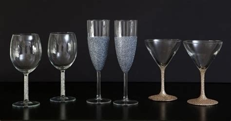 dishwasher safe glittered glassware     glass