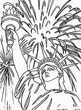 Liberty Statue Coloring Pages July 4th Fireworks Fourth Sheets Drawing Adult Face Patriotic Independence Flag Printable Colouring Crafts Star Lady sketch template