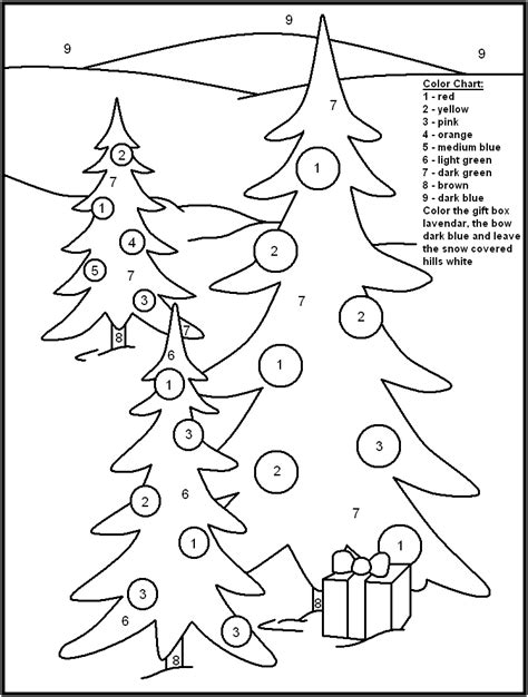 FREE Printable Christmas Color by Number Pages Merry