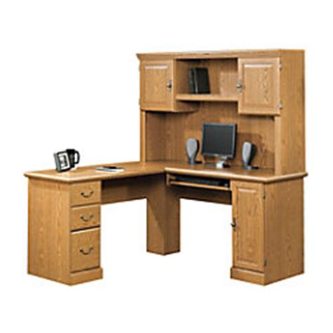 Sauder Camden County Computer Desk With Hutch by Sauder Camden County Computer Desk Planked Cherry