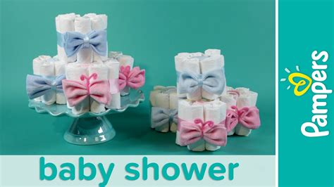 mini diaper cakes pampers gender reveal baby