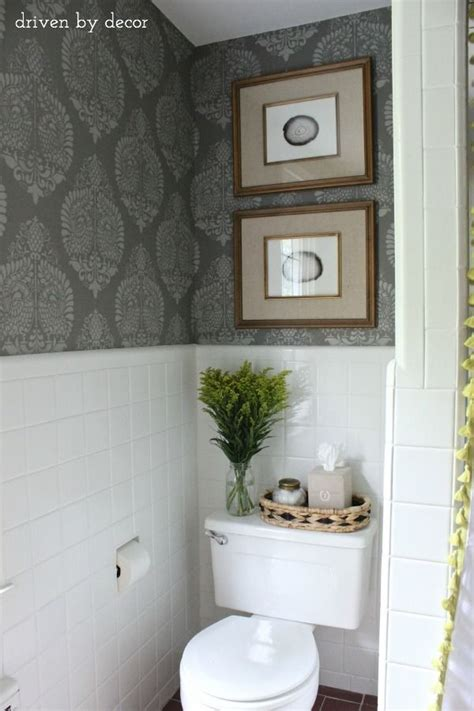 Our Stenciled Bathroom Budget Makeover Reveal  Build It