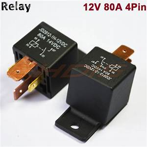 5 Pcs 80a 4pin Automotive Car Relay 80 Amp Dc 12v 24v High