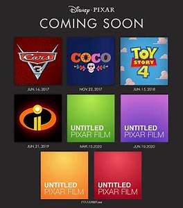 Pixar's Future Film Slate - 4 Original Films In ...
