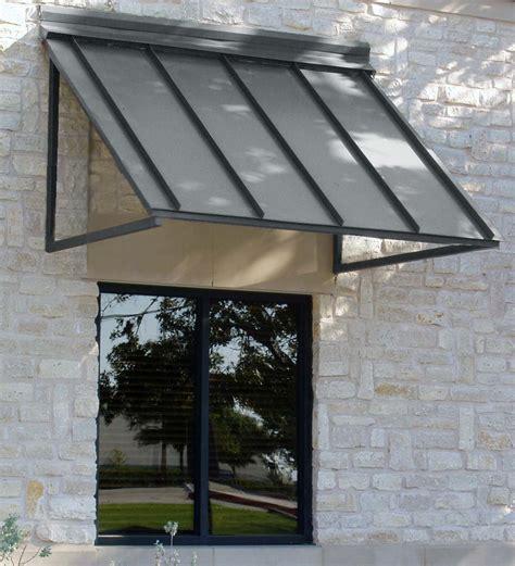 houstonian metal standing seam awning