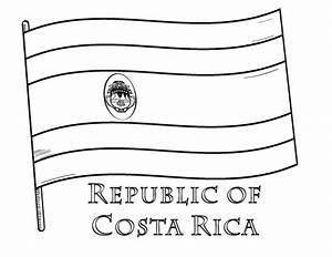 Free Costa Rica Flag Coloring Page