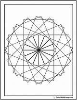 Coloring Geometric Pages Circle Print Wheel Designs Ferris Circular Detailed Customize Colorwithfuzzy sketch template