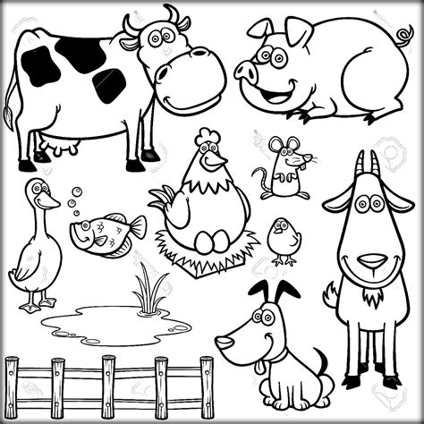 farm animal coloring pages  preschoolers farm