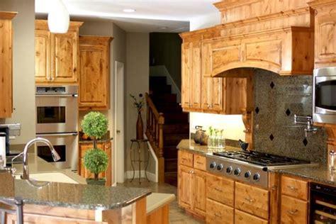knotty alder custom cabinets traditional kitchen
