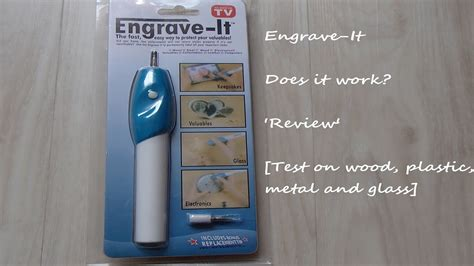 engrave  engraver  review wood plastic metal  glass test youtube