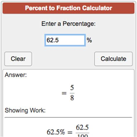 converting a percentage to a fraction in simplest form calculator percent to fraction calculator