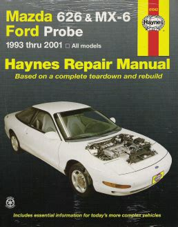 car manuals free online 1996 mazda mx 6 user handbook 1993 2002 mazda 626 mx 6 ford probe haynes repair manual