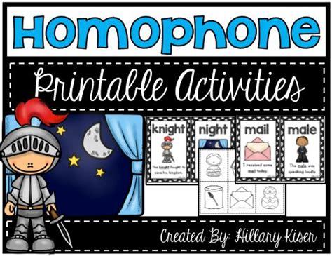 homophone printable activities full  fun homophone
