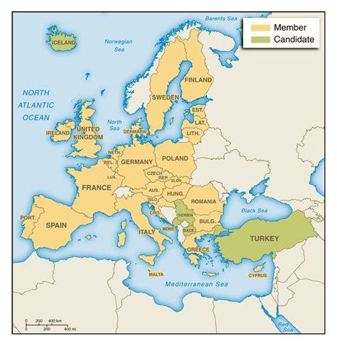 maps update  detailed travel map  europe