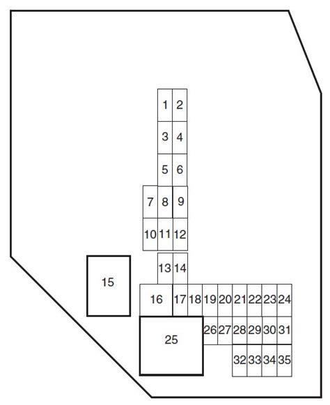 2004 Ford Ranger Fuse Panel Diagram by Ford Ranger 2010 2011 Fuse Box Diagram Auto Genius