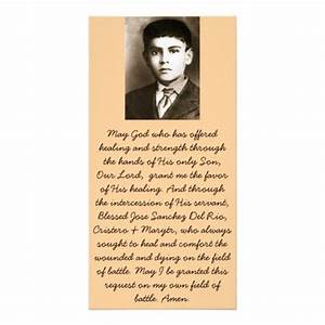 missionary prayer card template blessed jose sanchez canonization prayer cards zazzle