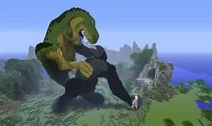 Godzilla and king Kong statue! | MINECRAFT | Pinterest ...