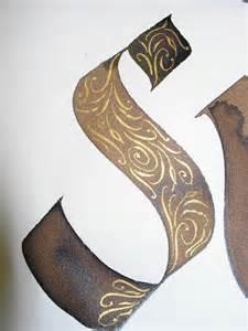 Gold Calligraphy Flourishes