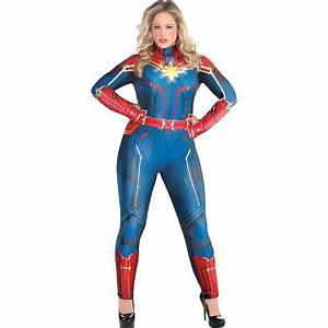 Captain, Marvel, Plus, Size, Jumpsuit, Halloween, Costume